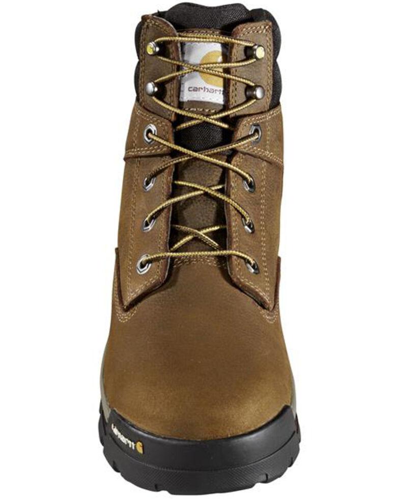 Carhartt Men's Ground Force Waterproof Work Boots - Soft Toe, Brown, hi-res