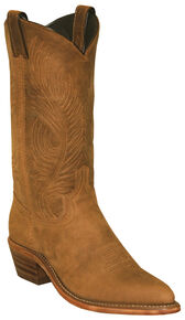 Abilene Women's Distressed Cowhide Cowgirl Boots - Pointed Toe , Tan, hi-res