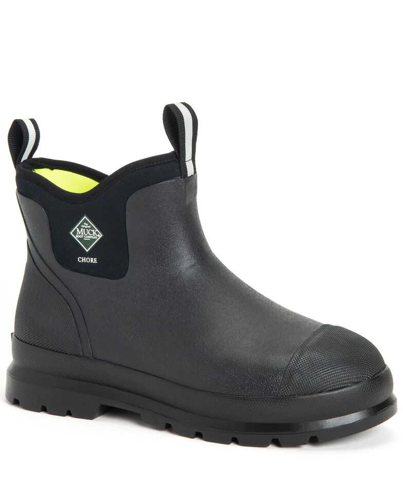 Muck Boots Men's Chore Classic Work Boots - Round Toe, Black, hi-res