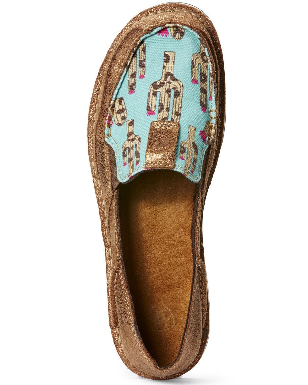 Ariat Women's Cruiser Leopard Cactus Slip-On Shoes - Moc Toe, Leopard, hi-res