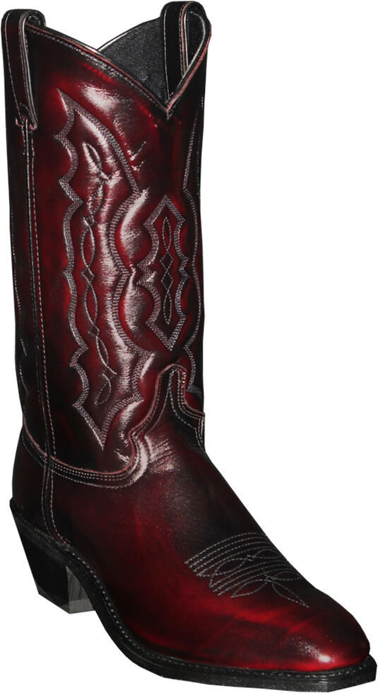 Abilene Black Cherry Dress Cowboy Boots - Square Toe , Black Cherry, hi-res