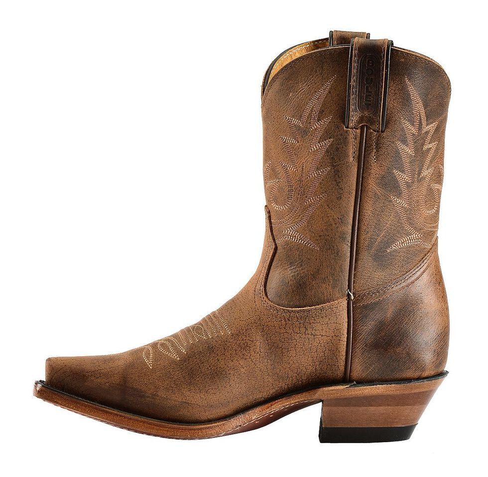 Boulet Fashion Cowgirl Boots - Snip Toe, Rustic Brn, hi-res