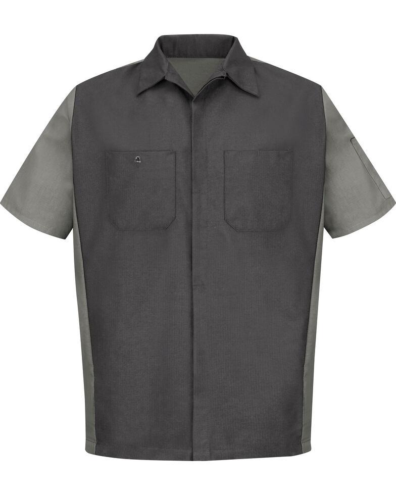 Red Kap Men's Crew Short Sleeve Shirt , Charcoal Grey, hi-res