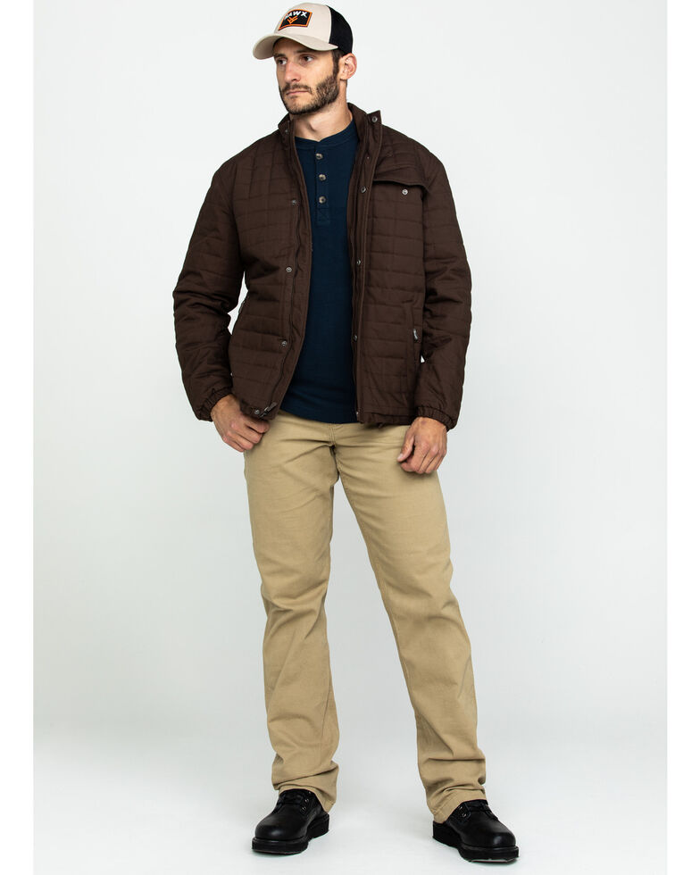 Wrangler Men's Brown Chore Quilt Lined Jacket , Dark Brown, hi-res