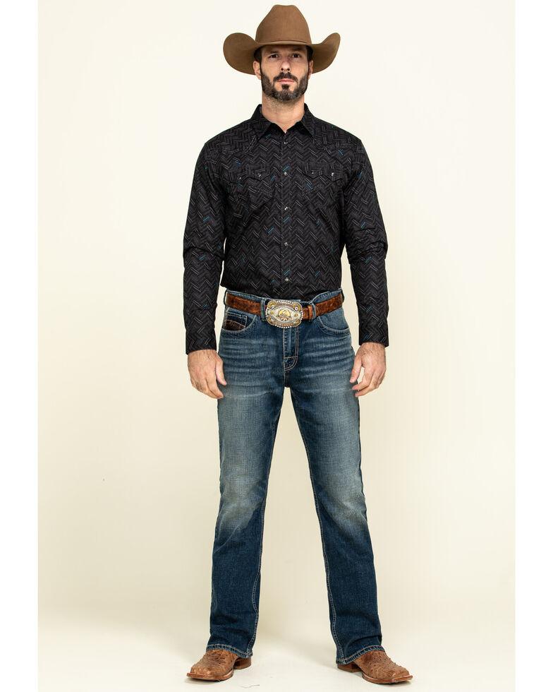Cody James Men's Mesa Ridge Aztec Print Long Sleeve Western Shirt - Tall , Black, hi-res