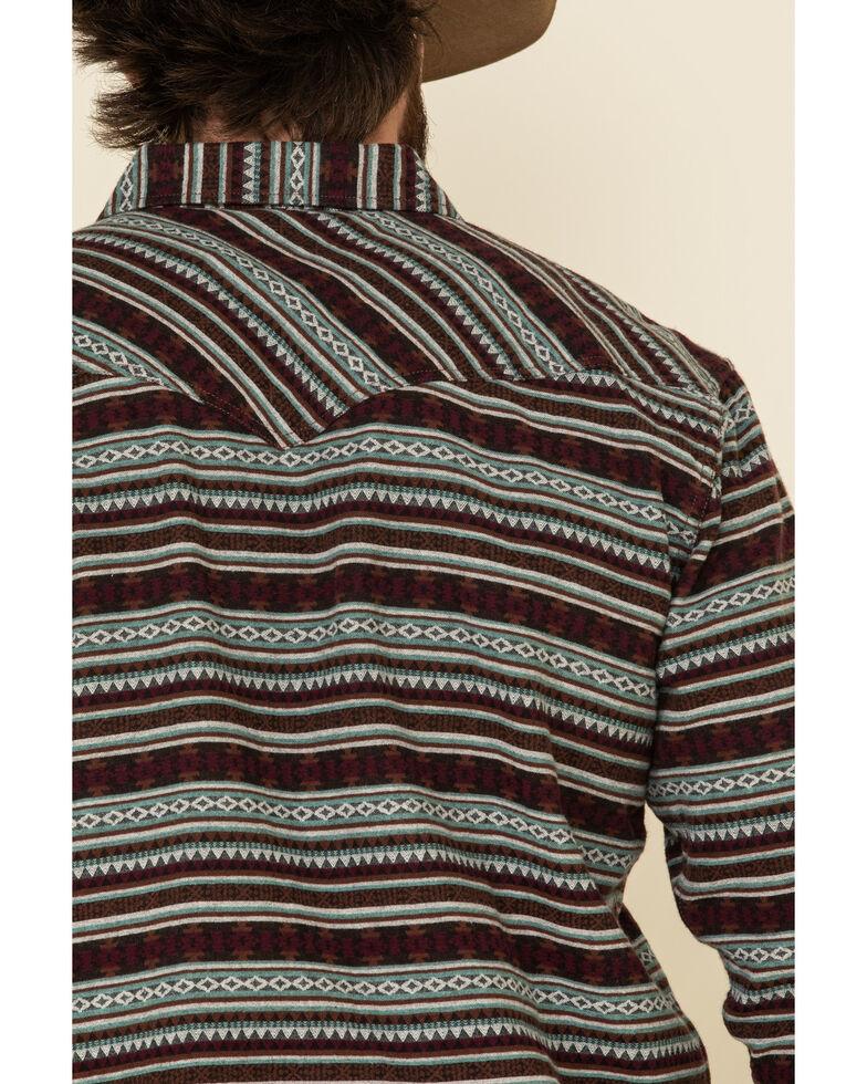 Moonshine Spirit Men's Firewater Jackard Striped Long Sleeve Western Flannel Shirt , Multi, hi-res
