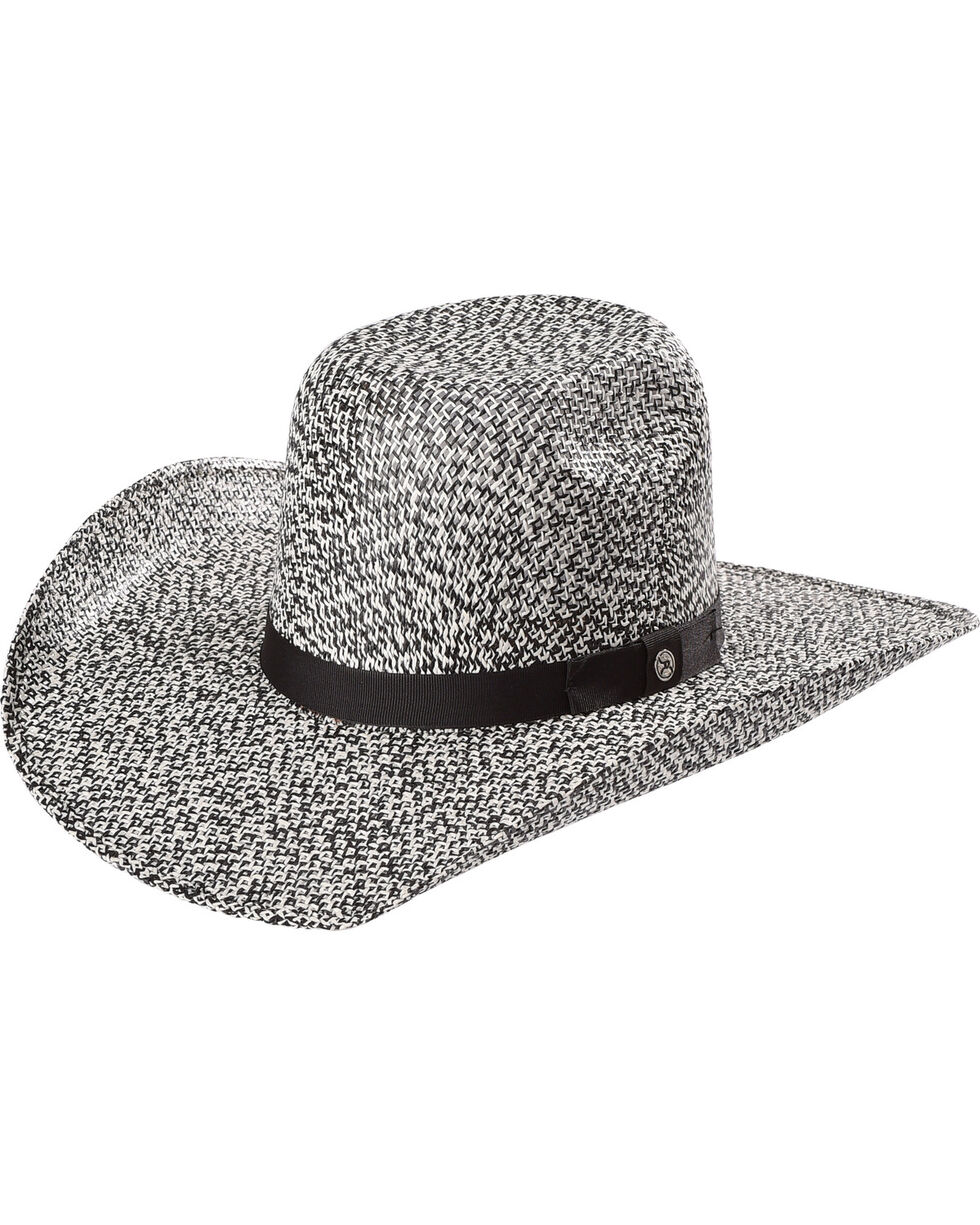 Hooey by Resistol Men's Del Rio K Straw Hat , Black, hi-res