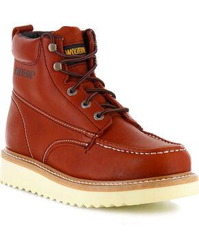 Wolverine Men's Moc-Toe Work Boots, Rust Copper, hi-res