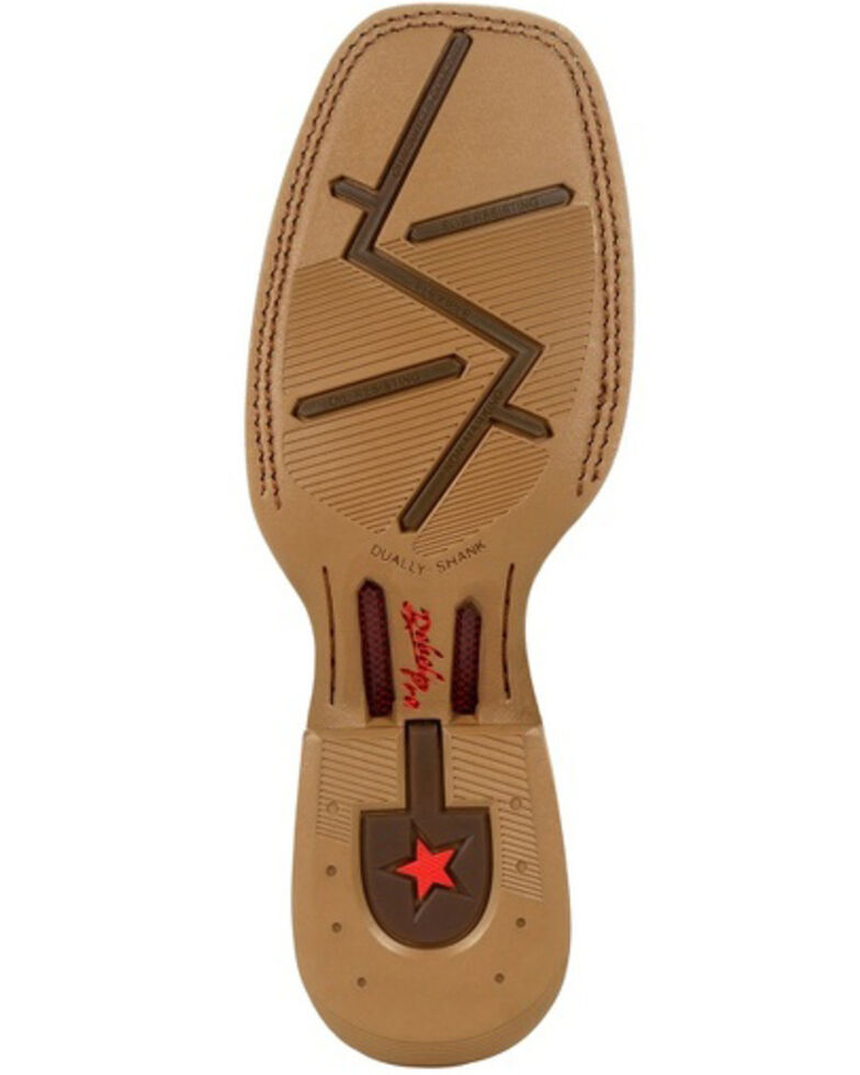 Durango Men's Rebel Full-Quill Ostrich Western Boots - Square Toe, Brown, hi-res