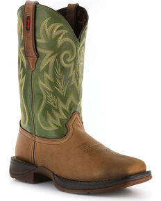 Durango Rebel Men's Pull-On Western Boots - Square Toe , Brown, hi-res