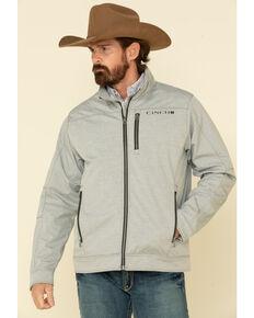 Cinch Men's Grey Solid Textured Bonded Concealed Carry Jacket , Grey, hi-res