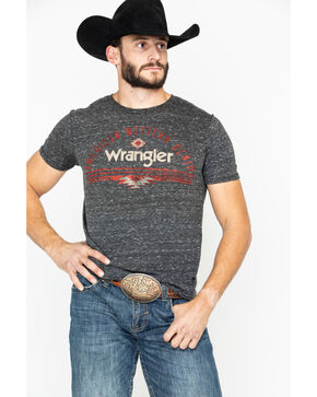Wrangler Men's American Western Denim Graphic T-Shirt, Black, hi-res