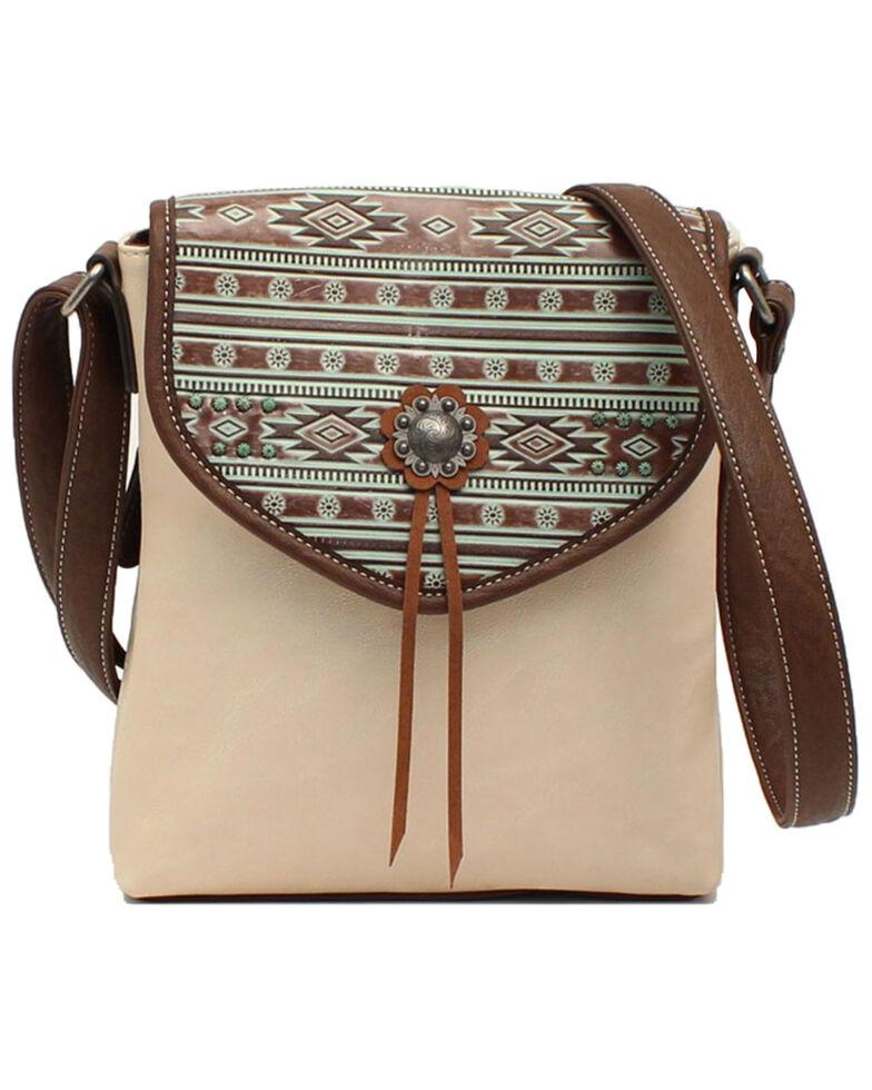 Blazin Roxx Women's Aztec Crossbody Bag      , White, hi-res
