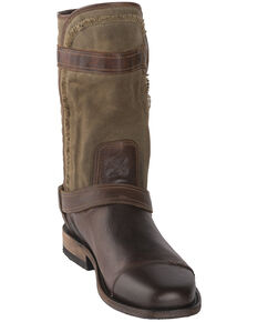 Lane Men's Dustoff Western Boots - Round Toe, Cognac, hi-res