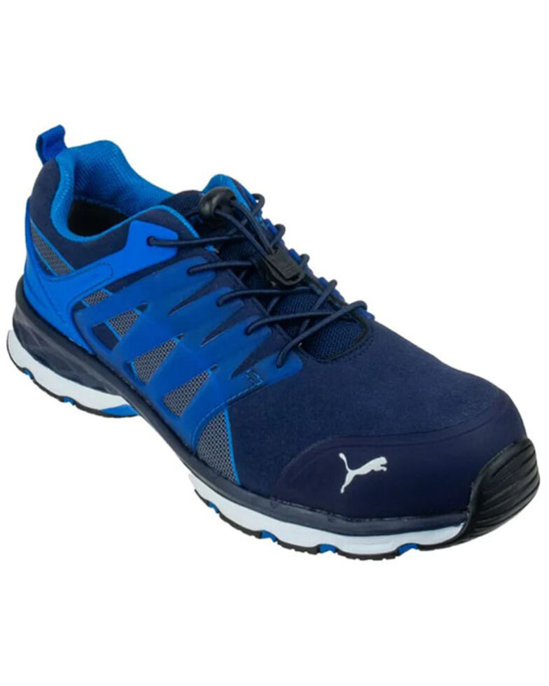 Puma Men's Velocity 2.0 Work Shoes - Fiberglass Toe, Blue, hi-res