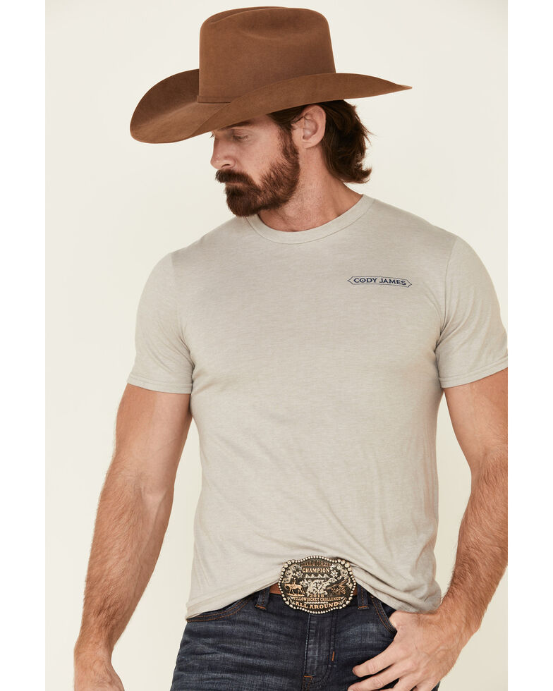 Cody James Men's Slate Horseshoe Graphic Short Sleeve T-Shirt , Slate, hi-res