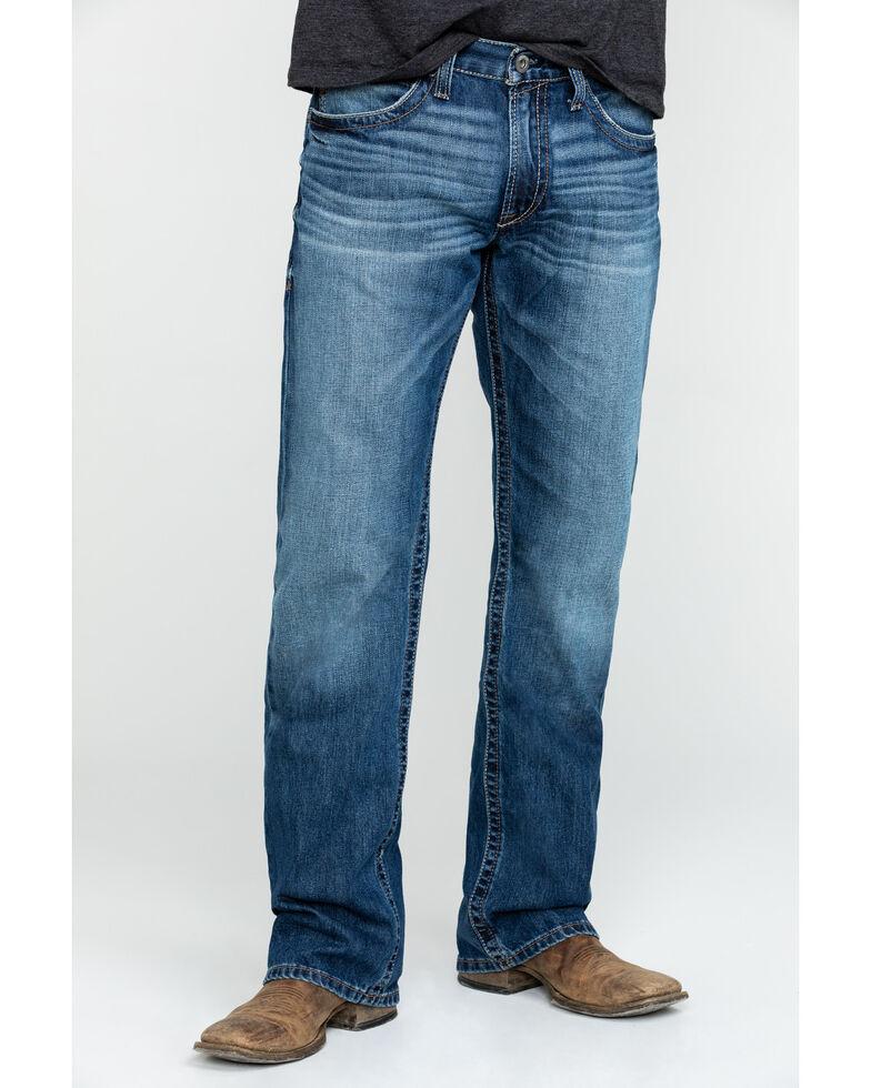 Ariat Men's M4 Midway Low Rise Boot Jeans - Big , Blue, hi-res