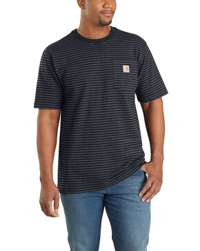 Carhartt Men's Black Stripe Workwear Pocket Short Sleeve Work T-shirt - Big , Black, hi-res