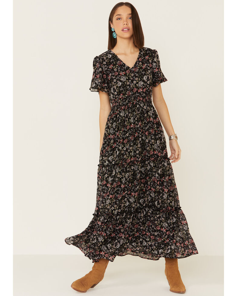 Mikarose Women's Black Eden Dress, Black, hi-res