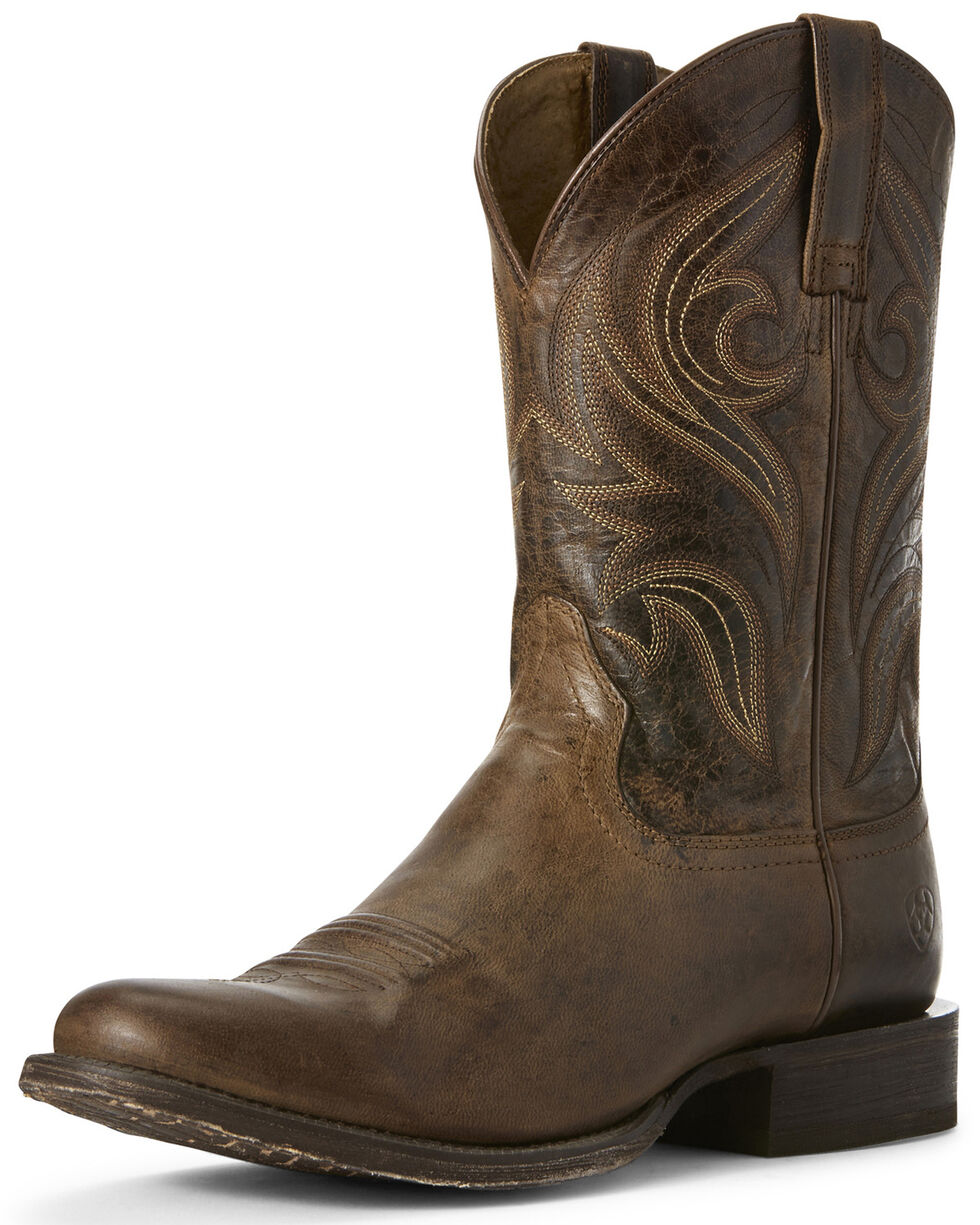 Ariat Men's Circuit Wildhorse Western Boots - Round Toe, Brown, hi-res