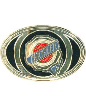 Western Express Men's Black Chrysler Trademark Buckle , Black, hi-res