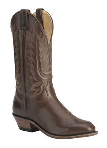 Boulet Men's Dress Cowboy Boots - Snip Toe, Tan, hi-res