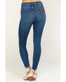 Wrangler Modern Women's Dark Wash Ankle Skinny Jeans , Blue, hi-res