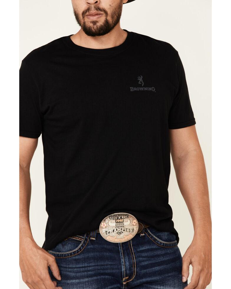 Browning Men's Black Rifle Flag Logo Graphic T-Shirt , Black, hi-res