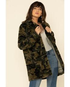 Katydid Women's Green Camo Faux Fur Lined Jacket , Camouflage, hi-res