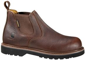 "Carhartt 4"" Twin Gore Romeo Work Shoes, Dark Brown, hi-res"