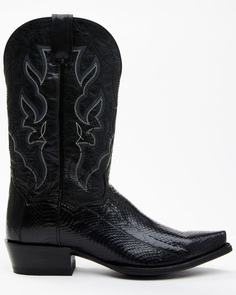 Dan Post Men's Exotic Water Snake Western Boots - Snip Toe, Black, hi-res
