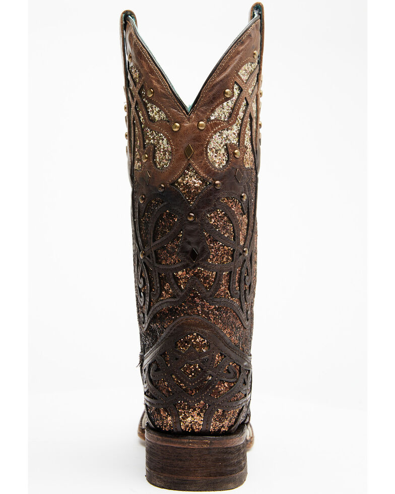 Corral Women's Marsha Western Boots - Square Toe, Brown, hi-res