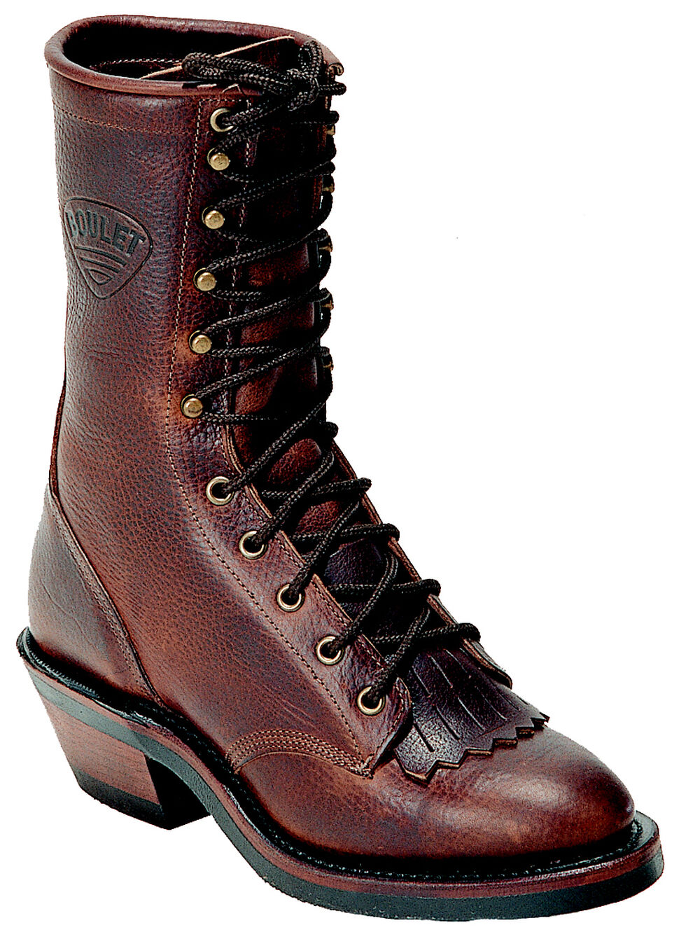 "Boulet Packer Grizzly Mountain 9"" Lace Up Boots - Round Toe, Brown, hi-res"