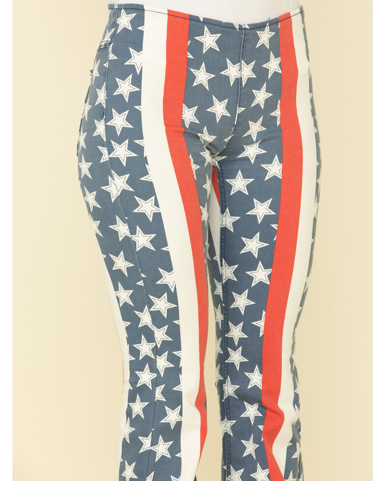 Free People Women's 4th of July Penny Pull on Flares , Red/white/blue, hi-res