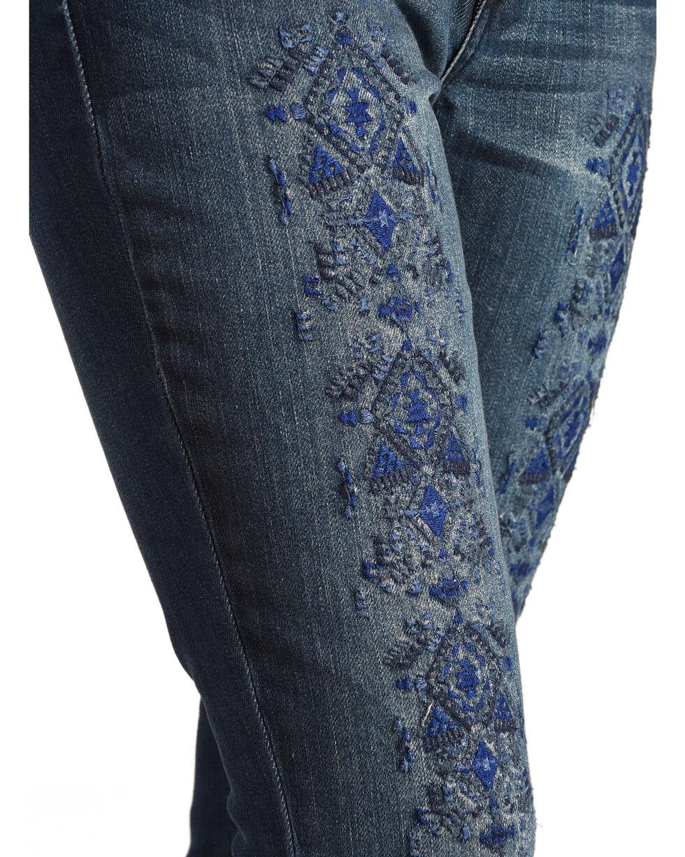 Wrangler Women's Embroidered Tribal Print Skinny Jeans , Indigo, hi-res