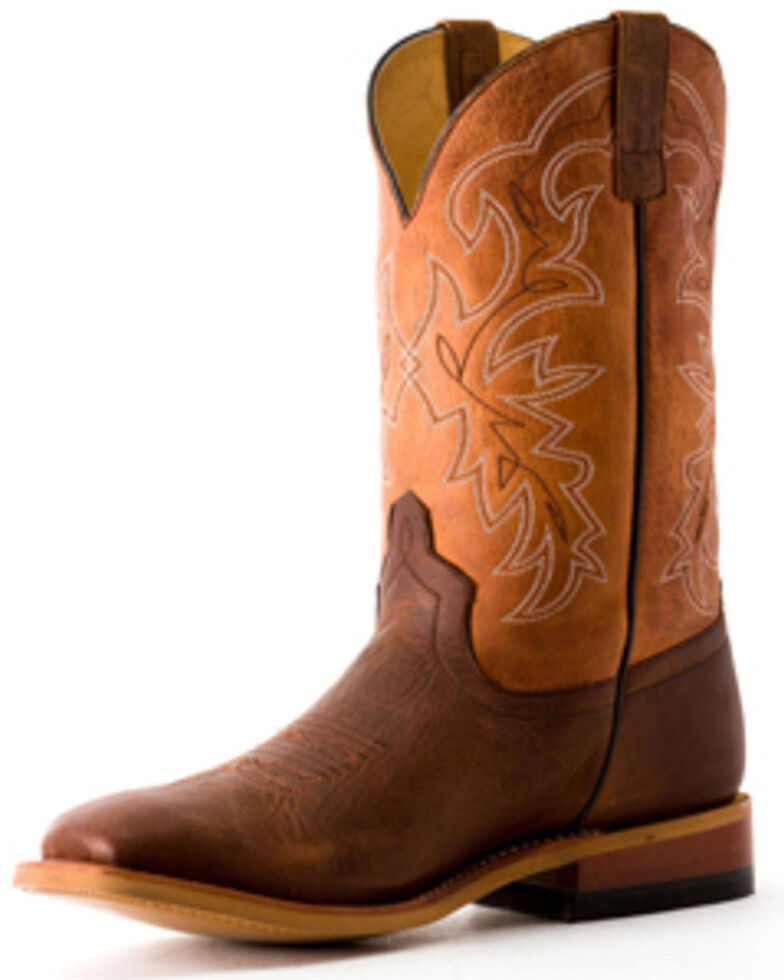 HorsePower Youth Boys' Sugared Tang Western Boots - Square Toe, Brown, hi-res