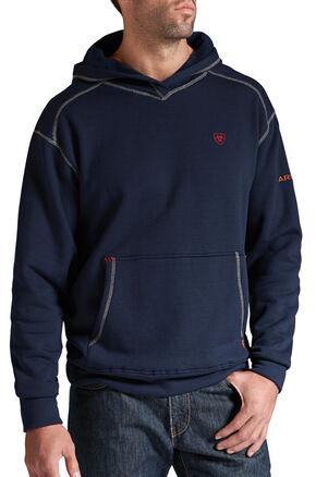 Ariat Flame-Resistant Navy Polartec Hoodie, Navy, hi-res