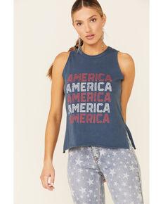 Rock & Roll Denim Women's Navy America Graphic Tank Top, Navy, hi-res