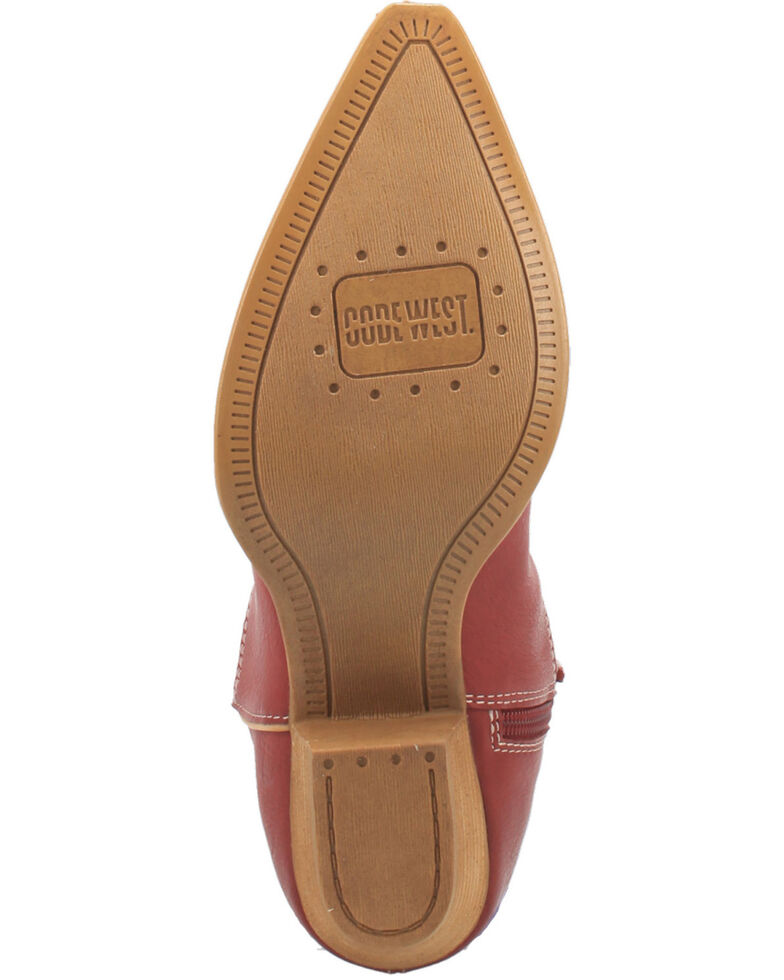 Code West Women's Agave Fashion Booties - Snip Toe, Red, hi-res