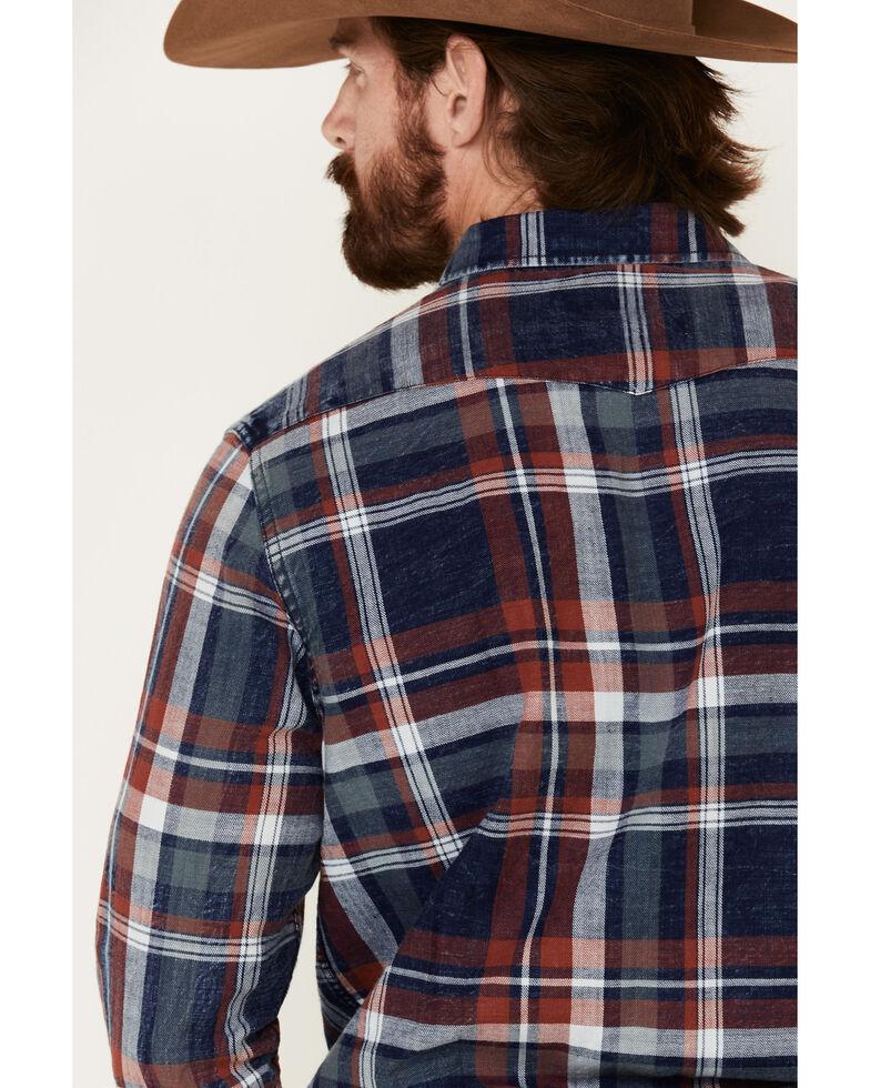 Flag & Anthem Men's Trevett Plaid Long Sleeve Western Shirt , Red, hi-res