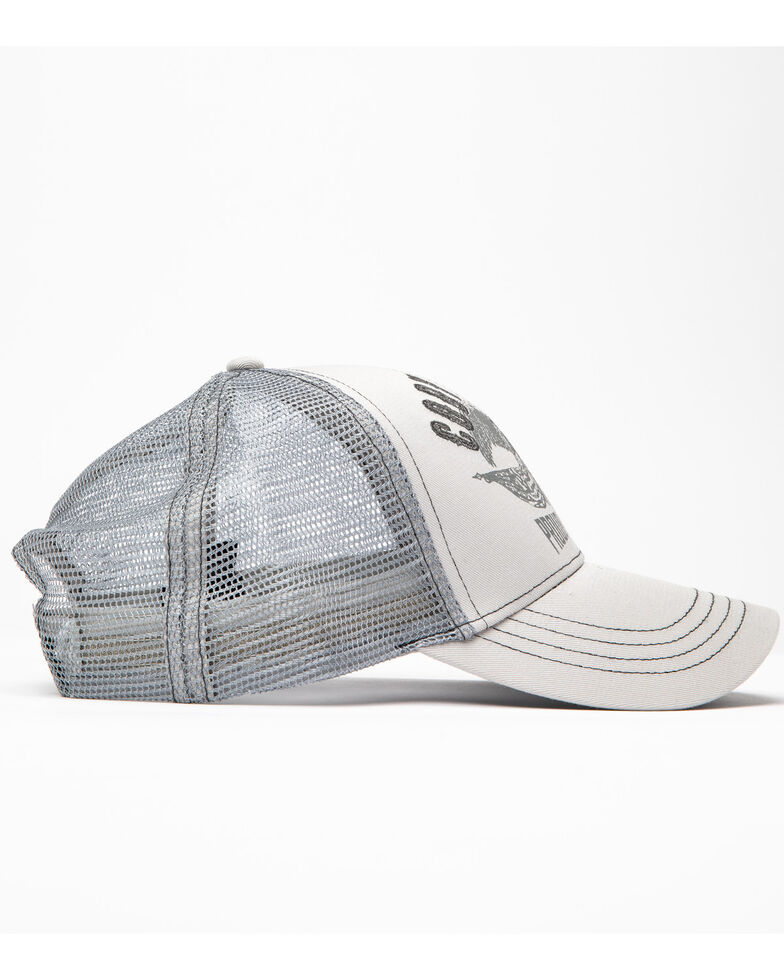 Cody James Men's Proudly American Eagle Embroidered Ball Cap , Grey, hi-res
