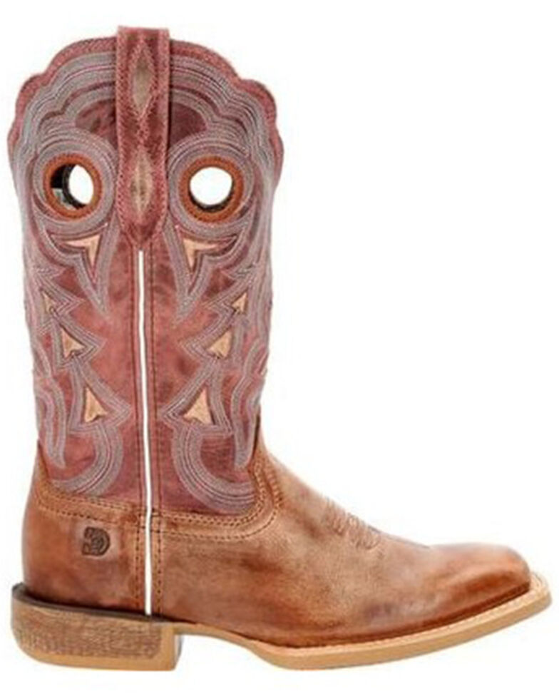 Durango Women's Red Lady Rebel Pro Western Boots - Square Toe , Rose, hi-res