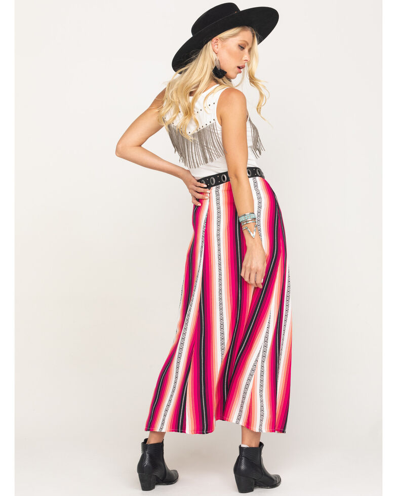 Rock & Roll Denim Women's Pink Serape Print Skirt , Pink, hi-res