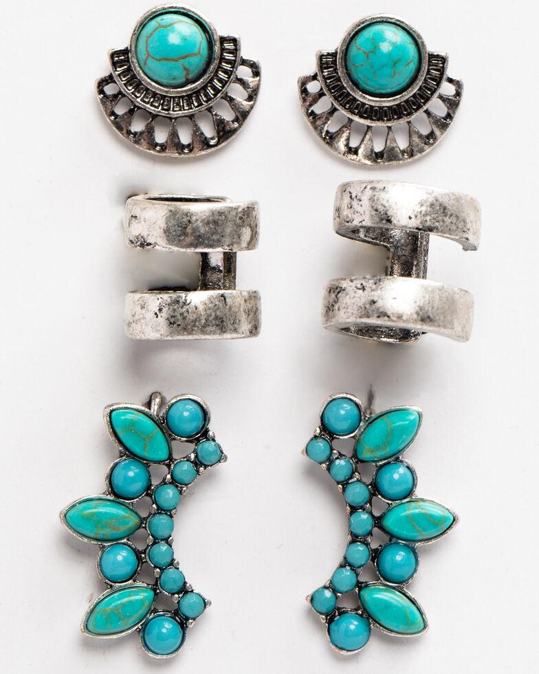 Idyllwind Women's Tomboy Turquoise Earrings Set, Silver, hi-res