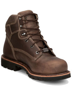Chippewa Men's Bolville Fossil Work Boots - Composite Toe, Brown, hi-res