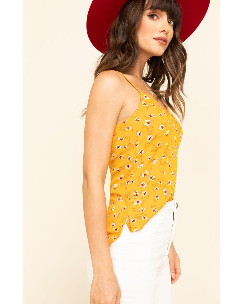 Shyanne Women's Floral Lace Cami , Yellow, hi-res