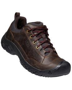 Keen Men's Dark Earth & Mulch Targhee III Oxford Casual Lace-Up Hiking Shoe , Dark Brown, hi-res