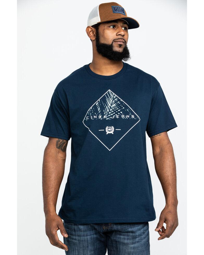 Cinch Men's Diamond Logo Graphic Short Sleeve T-Shirt  , Navy, hi-res