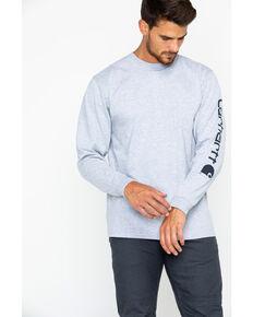 Carhartt Signature Logo Sleeve Knit T-Shirt - Big & Tall, Hthr Grey, hi-res
