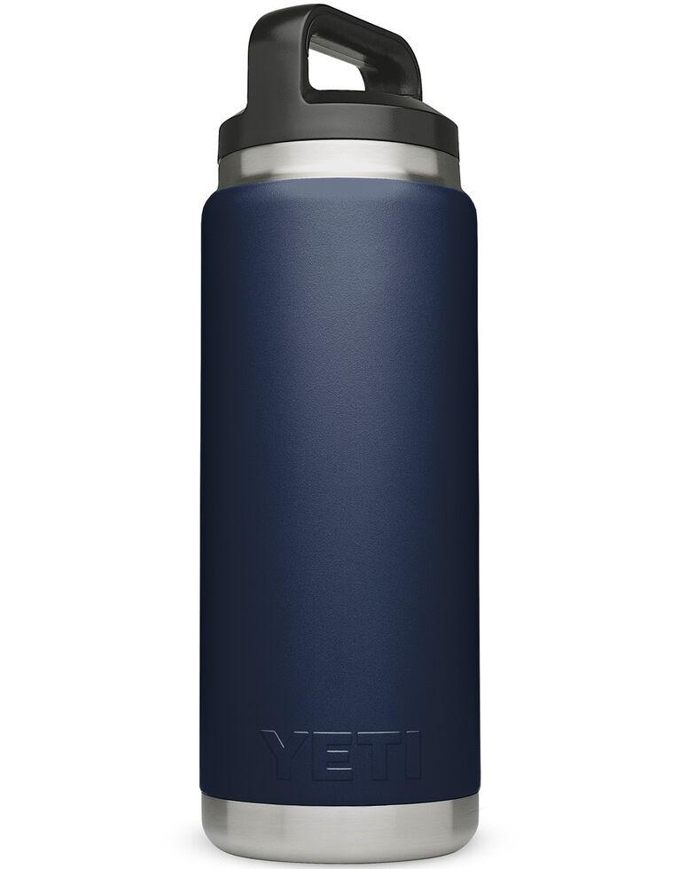 Yeti 36oz Navy Rambler Bottle, Navy, hi-res